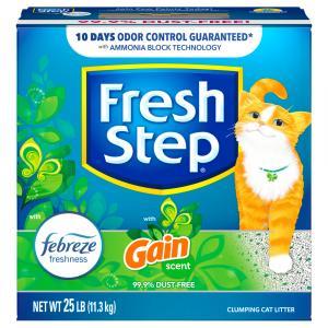 Fresh Step Febreze Freshness Gain Scent Clumping Cat Litter