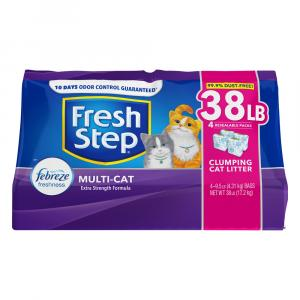 Fresh Step Febreze Freshness Multi-Cat Clumping Cat Litter