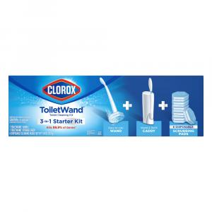 Clorox Toilet Wand Starter Kit with Storage Caddy