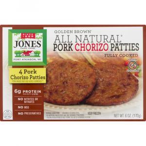 Jones Pork Chrizo Patties Fully Cooked