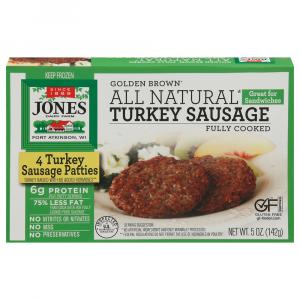 Jones Breakfast Turkey Sausage Sandwich Patties
