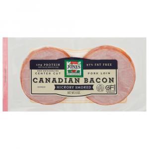 Jones Hickory Smoked Canadian Bacon