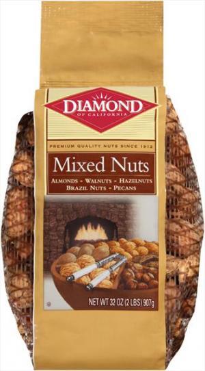 Diamond Mesh Bag Mixed Nuts
