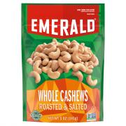 Emerald Whole Cashews Roasted & Salted