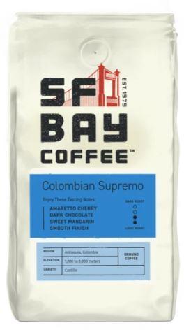 SFBay Colombian Supremo Ground Coffee
