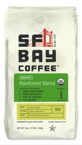 SFBay Organic Rainforest Blend Ground Coffee