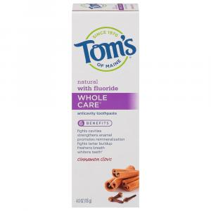 Tom's Whole Care Cinnamon Clove Toothpaste