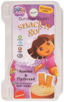 Summer Fresh Dora The Explorer Hummus With Flatbread