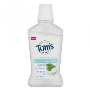 Tom's Alcohol-Free Sea Salt Refreshing Mint Mouthwash