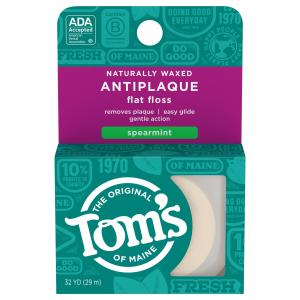 Tom's Antiplaque Naturally Waxed Flat Floss Spearmint