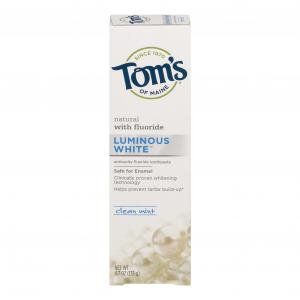 Tom's Luminous White Clean Mint Toothpaste