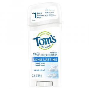 Tom's Unscented Long Lasting Deodorant