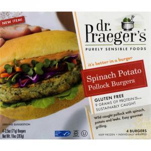 Dr. Praeger's Spinach Potato Pollock Burger