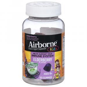 Airborne Kids Gummies Elderberry Flavor Age 4+