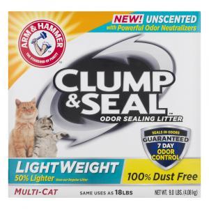 Arm & Hammer Clump & Seal Lightweight Unscented Litter