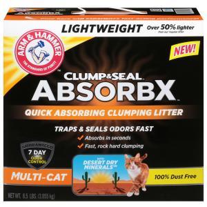 Arm & Hammer AbsorbX Clump & Seal Multi-Cat Clumping Litter