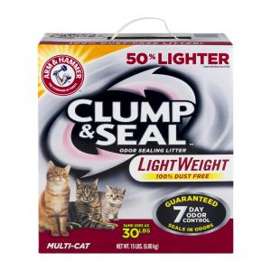Arm & Hammer Clump & Seal Lightweight Multi-Cat Litter