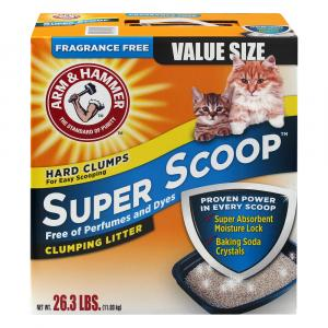 Arm & Hammer Super Scoop Fragrance Free Clumping Litter