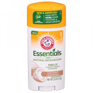 Arm & Hammer Essentials Deodorant Coconut & Geranium