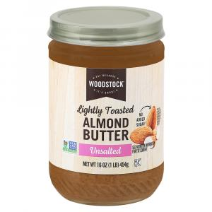 Woodstock Unsalted Smooth Lightly Toasted Almond Butter