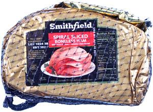 Smithfield Quarter Sliced Boneless Spiral Ham