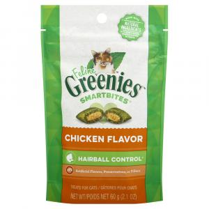 Greenies Feline Smartbites Chicken Flavor Hairball Formula