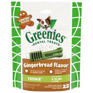 Greenies Dental Treats Teenie Gingerbread Flavor