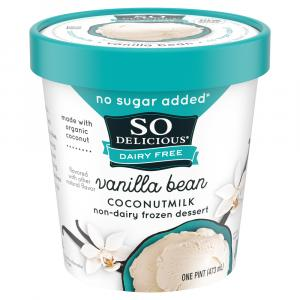 So Delicious Dairy Free No Sugar Added Vanilla Bean