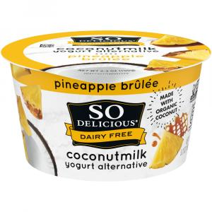 So Delicious Coconut Milk Pineapple Brulee Yogurt