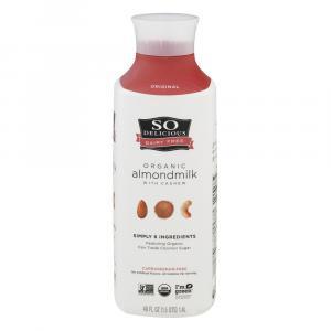 So Delicious Organic Almond Milk With Cashew Coconut Sugar