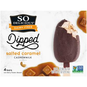 So Delicious Cashewmilk Dipped Salted Caramel Bars