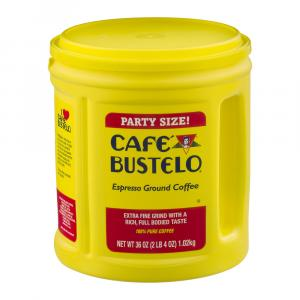 Cafe Bustelo Ground Coffee Party Size Can