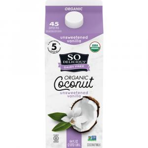 So Delicious Organic Coconut Milk Unsweetened Vanilla