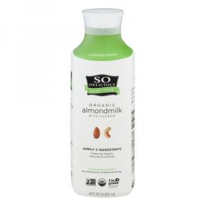 So Delicious Organic Unsweetened Almond Milk With Cashew