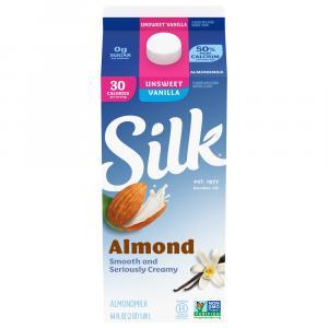 Silk Pure Almond Unsweetened Milk Vanilla