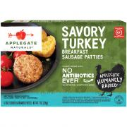 Applegate Naturals Gluten Free Savory Turkey Sausage Patty