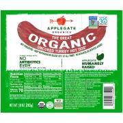 Applegate Organics Uncured Turkey Hot Dog