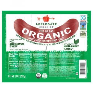 Applegate Organics Uncured Turkey Hot Dog