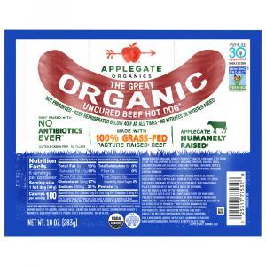 Applegate Organic Beef Hot Dogs