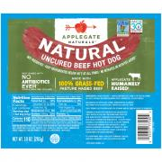 AppleGate Natural Uncured Beef Hot Dogs