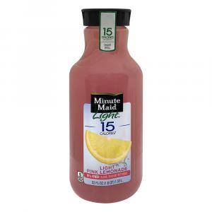 Minute Maid Light 15 Pink Lemonade Fruit Juice
