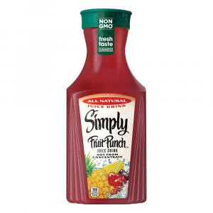 Simply Fruit Punch Juice Drink Not From Concentrate