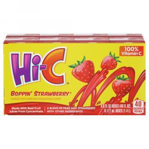 Hi-C Blazin Boppin Strawberry Flavored Fruit Drink