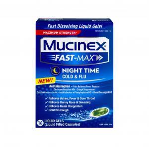 Mucinex Fast Max Night Time Cold & Flu Liquid Gels