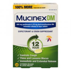 Mucinex DM Decongestant Tablets