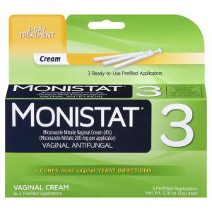 Monistat 3 Simple Cure Cream Applicators