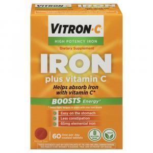 Vitron-C High Potency Iron Dietary Supplement Plus Vitamin C