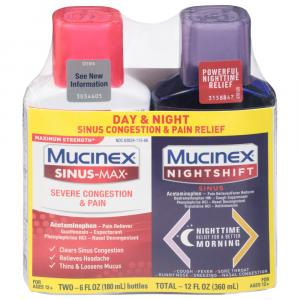 Mucinex Maximum Strength Sinus-Max Severe Congestion & Pain