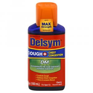 Delsym Adult Cough & Chest Congestion Cherry Cough Syrup