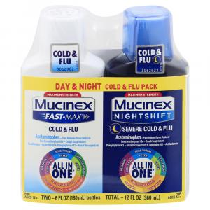 Mucinex Fast Max Day/Night Shift Cold & Flu